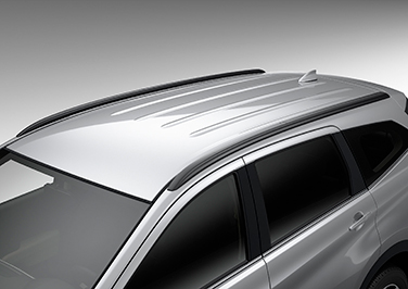 Built-in roof rails